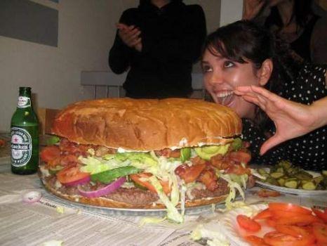 Big Food = Burger Pillow