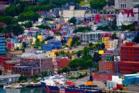 Jelly Bean Row in St. John's, Newfoundland, Canada