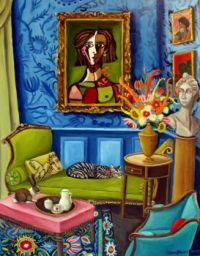 Interior in Blue by Catherine Nolin
