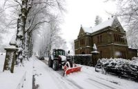 A street in Keele, Staffordshire