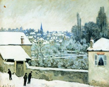 Alfred Sisley, Snow at Louveciennes