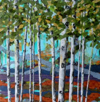 Late Summer Aspens by Sandra Lane Galloway