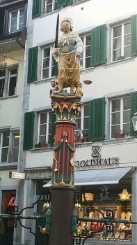Solothurn. Fountain statue