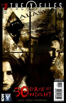 The cover of the X-Files/30 Days of Night crossover graphic novel