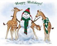 Christmas Giraffes