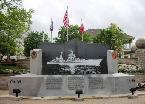 USS Indianapolis Memorial 1945