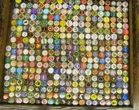 bottle cap collage