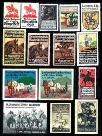 European 'cinderella' horse stamps