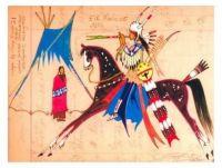 Elk Medicine ~ Ledger art by George Flett (Spokane)