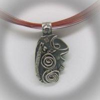 Sacred Spiral Sterling pendant