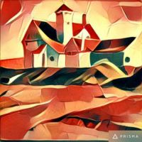 Painterly enhanced painting by Prisma