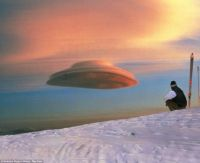 A cloud, not a UFO (Photo: Rex Feat)