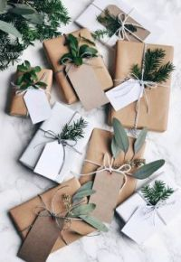 Gifts - Brown, White and Green