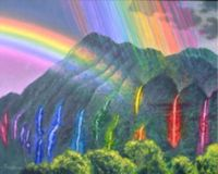 Theme ~ Waterfall colors of the Rainbow
