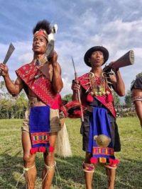Members of Konyak Tribe, Nagaland, India