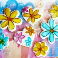 Watercolor Flower Cookies
