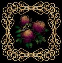 roses with gold and black