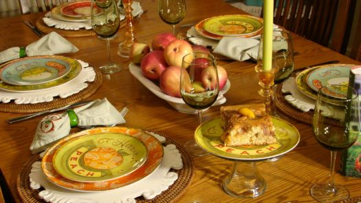 A Peachy Table Setting