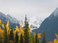 Faraway year-round snow in Alaska