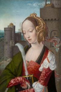 Saint Barbara A Portrait By The Master of Frankfurt