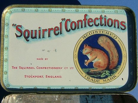 Squirrel Confectionery tin