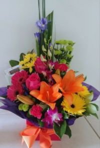 Happiness is.....Brightly Coloured Bouquet.