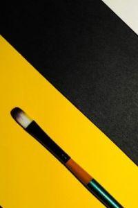 Makeup Brush on Yellow