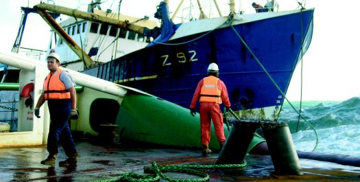 Anglian Earl (One of my old firm's tugs)rescues trawler