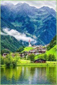 Vilarejo na Selva de Molini, Lago de Meggina, Itália !!!
