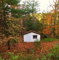 Little bunkhouse in autumn