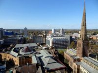 Panoramic View from the old Coventry Cathedral Tower  (5)