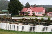 Pink cotage: Queenstown, Tasmania