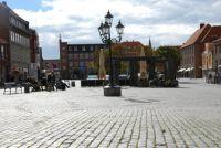 Store torv i Ronne paa Bornholm
