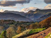 Langdale from Loughrigg Fell. Lake District. UK