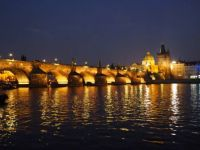Charles Bridge in night, Prague