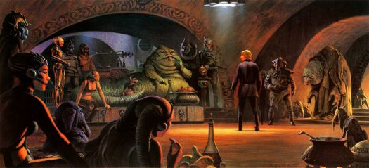 Audience with Jabba by Ralph McQuarrie
