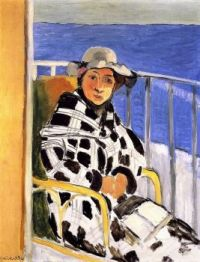 Henri Matisse  1918  Mlle Matisse in a scottish plaid.