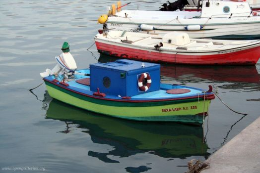Little boats in Sitia, Crete, Greece
