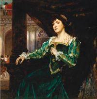 Ferdinand Victor Léon Roybet (French, 1840–1920),  Portrait of Madame Clémenceau