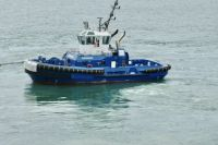 Small blue tug