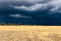 Storm clouds roll over Edgeroi near Narrabri, New South Wales