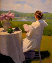 Dennis Perrin Reading by the edge of the Marsh