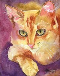 Orange Tabby Cat by Ron Krajewski