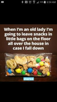 Little bags of snacks