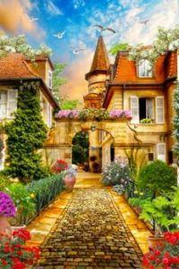 The Cobblestone Path to the Castle....