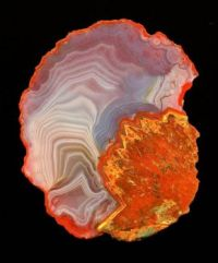Agate from quarry near Freisen, Germany