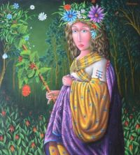 Zurab Martiashivil Art - Flowers of the Forest