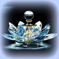 Blue Lotus Flower Perfume Bottle