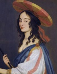 ca. 1650 Self portrait by Louise Hollandine, princess Palatine