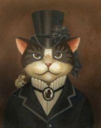 """Victorian Lady Cat"""